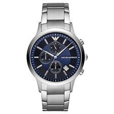 Emporio Armani Renato Blue Dial Silver Bracelet Chronograph Men's Watch AR11164
