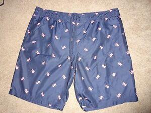Men's Faded Glory American Flag Swim Trunks/Shorts Size 3XL 48-50 NWOT