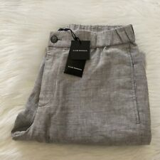 NEW wTag-CLUB MONACO Gray Linen Jogger Pants M