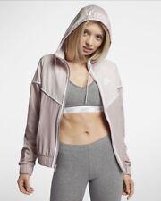 Nike Windrunner Women's Gym/ Running Jacket Size S 883495-072 Khaki/White