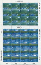 EUROPA CEPT 2001 LEBENSSPENDER WASSER - FÄRÖER FOROYAR 402-03 KLEINBOGEN **