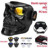 Monster Open Face Half Mask Motorcycle Skull Goggles Masks Vintage Retro Helmets