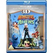 Monsters Vs Aliens 3D blu ray - 3 disc set ( NEW )
