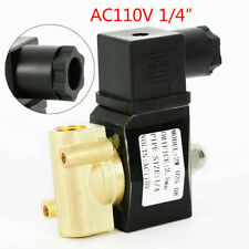 Brass Valve 110v120v Ac 14 Electric Solenoid Valve Nc For Water Air Gas Us