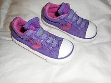 Baby Girls Converse Purple/Pink Slip On Shoes  Size 6