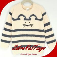 NWT HANNA ANDERSSON COZY CRITTER MARSHMALLOW SWEATER ECRU MOUSE 110 5
