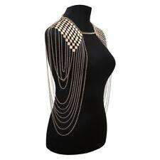 Chain Harness Tassel Body Chain Gold Full Body Shoulder Multilayer