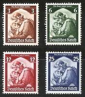 DR Nazi 3rd Reich Rare WW2 Stamp Hitler Saar Mother Child Propaganda Plebiscite