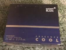 PRESENCE COOL 2.5 Oz Eau de Toilette Spray for Men by Mont Blanc