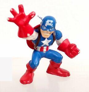 Marvel 2008 Superhero Squad Captain America figure (broken ear) shield on back