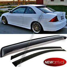 Fit 01-05 Civic 2DR Coupe Acrylic UV Window Visors + Rear Roof Visor Combo