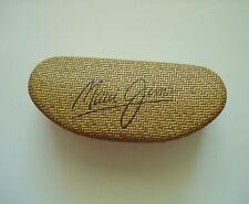 Maui Jim Sun Glasses Case Tan Basket Weave Hard Clamshell Looks New!