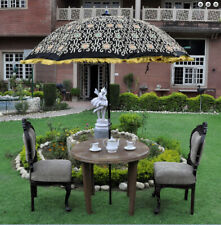 zari embroidery work handmade garden umbrella big sun protect patio parasol
