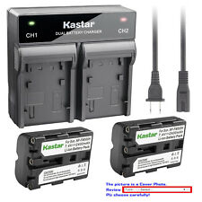 Kastar Battery AC Rapid Charger for Sony NP-FM500H & a57 a57 SLT-A57 SLT-A57Y