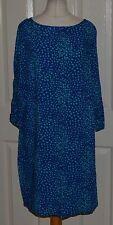 Scoop Neck 3/4 Sleeve Tunic Regular Size Dresses for Women