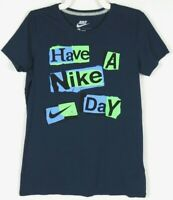 Nike Men's T Shirt Blue Slim Fit Tee Large Size L