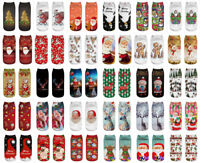 1 Pairs Men/Women Sock Halloween & Christmas Theme Cotton Low Cut Ankle Socks