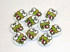 10 HOLZKNÖPFE - Kinderknöpfe - Frosch