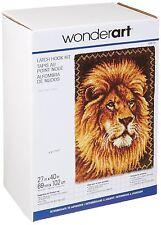 "Lion Latch Hook Kit Rug Making Kit 27x40""  latch hook canvas By Caron Wonderart"