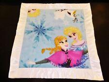 Handmade Toddler Fleece Blanket with White Satin trim
