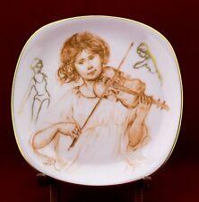 Allegro Ensemble Edna Hibel on Porcelain Plate & Art Book #4643 Box