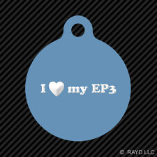 I Love my EP3 Keychain Round with Tab dog engraved many colors