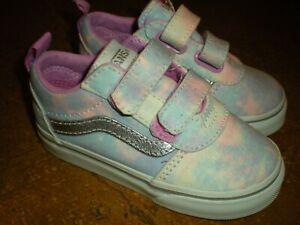New VANS Pastel Tie-Dye Sparkle Shimmer Shoes Sneaker Toddler Size 7
