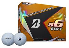 """NEW 2018"" BRIDGESTONE E6 SOFT 3 PIECE WHITE GOLF BALLS DOZEN / 12 BALL PACK"