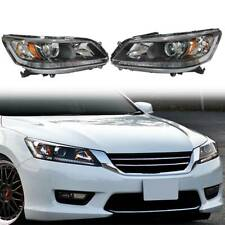 For 2013 2014 2015 Honda Accord Sedan Headlights Halogen Headlamps Left + Right