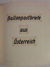 ÖSTERREICH - Tolle SAMMLUNG BALLONPOST (200 St.) ab 1948 bis 1991 mit SONDERFLÜG
