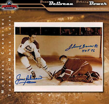JEAN BELIVEAU & JOHNNY BOWER Dual Signed Vintage 8 x 10 Photo - 70104