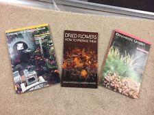 Lot Of (3) Ornamental Grasses Book-Greenhouses-Dried Flowers -Diy- 91C