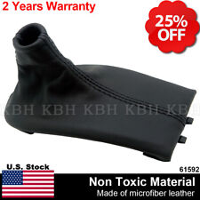 Manual Shifter Shift Boot Leather For Porsche Boxster 911 986 996 97-04 Black