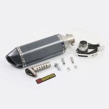 Moto Universale Terminali Scarico 36-51mm Tubo Silenziatore Carbonio Acciaio IT