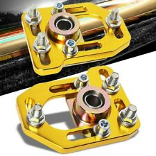 Aluminum Gold Front Adjustable +/-3 Camber +/-2 Caster Plates For 79-89 Mustang