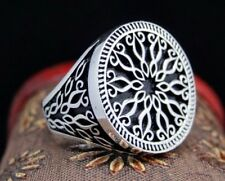 Turkish 925 S. Silver SPECIAL no stone Mens Ring Sz 10.5 us Free Resize #11424