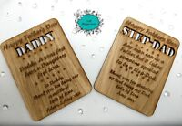 Personalised Wooden Father's Day Card, Gift, Plaque, Keepsake, Magnetic