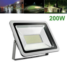 200W Watts SMD Outdoor LED Flood light Garden Cool White Spotlights Lamp 110V