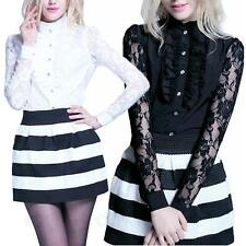Party Long Sleeve Semi Fitted Tops & Shirts for Women