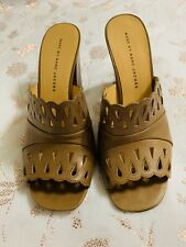 Marc By Marc Jacobs Tan Slip On Leather Mules , Sz. 40/10 Usa