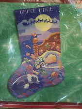 "Christmas Cross Stitch Bucilla 18"" Stocking Kit Visions of Sugarplums 84357 8428"