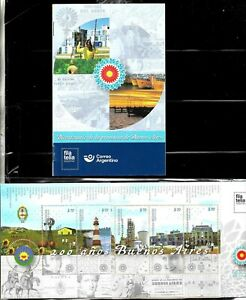 #10041 ARGENTINA 2021 BUENOSAIRES,BOOKLET+BROCHURE,LIGHTHOUSE SHIP,TRAIN COW MNH