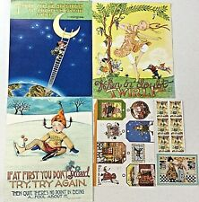 Mary Engelbreit Illustrations from Calendar, Christmas Tags, Stickers, Postcard