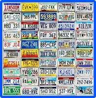COMPLETE SET 50 UNITED STATES License Plates - ALL 50 USA States + BONUS Plate!