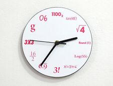 Mathematics - Math Equation Formula Numbers - Wall Clock