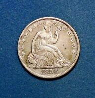 1856-O 50C Liberty Seated Silver Half Dollar AU Condition New Orleans