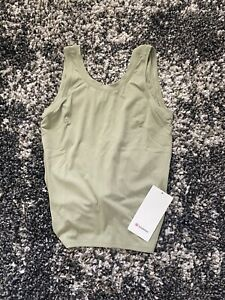 NWT Lululemon Nulu Fold Classic Fit Yoga Tank in Rosemary Green! Size 4!