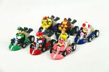 Super Mario Bros Kart Kids Toys Pull Back Car 6pcs Action Figures Set Party Gift