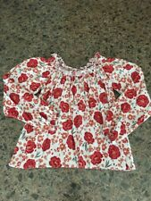 Women's Hollister Off The Shoulder Crop Top Floral Red White Shirt Size XS