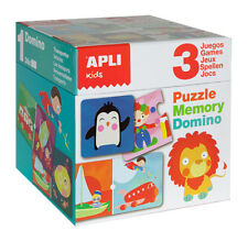 Apli Kids - Puzzle, Domino & Memory Cube, Childrens gift, puzzles, special needs
